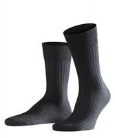 Eleganckie czarne wełniane skarpety falke bristol w prążki rozmiar 39-40