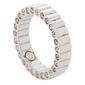 Pierścionek magnetyczny 3805-1 stal chirurgiczna z kryształami w pierścionku