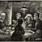 Potato eaters, vincent van gogh - plakat wymiar do wyboru: 80x60 cm