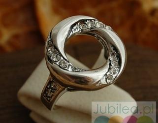 Augustyna - srebrny pierścień z cyrkoniami