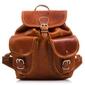 Skórzany plecak paolo peruzzi s-69-br brązowy