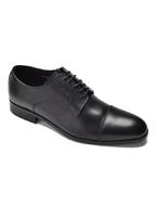 Eleganckie i luksusowe czarne skórzane buty męskie typu derby 45,5
