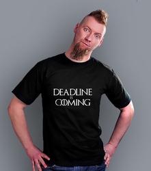 Wyprzedaż - deadline is coming męska l t-shirt męski czarny l
