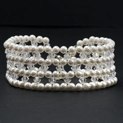 Bransoletka ślubna z kryształami swarovski 626