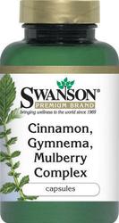SWANSON Kompleks cynamonu, gymnemy i morwy x 120 kapsułek