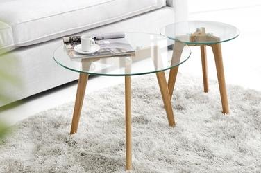 INTERIOR SPACE :: Zestaw dwóch stolików kawowych Moise 50cm 40cm - zestaw