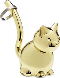 Stojak na pierścionki Zoola mosiądz kot