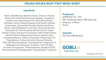 Holika holika baby silky foot mask sheet skarpetki nawilżające