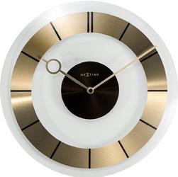 Zegar ścienny Retro Nextime 31 cm, złoty  czarny 2790 GO