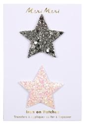 Meri meri naprasowanki gwiazdki brokatowe