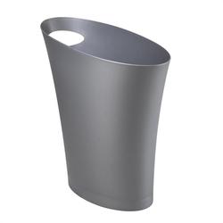 Umbra - otwarty kosz na śmieci, srebrny