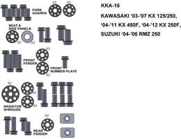 Keiti  kka-16 zestaw śrub kawasaki 03-07 kx 1252