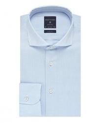 Elegancka błekitna koszula męska taliowana, slim fit, włoski kołnierzyk 38