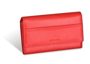 Damski portfel valentini black  red diamond 550 - czerwony