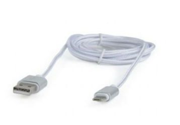 Gembird Kabel Micro-USB dwustronny8pin1.8msrebrny