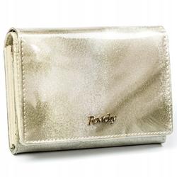 Zachwycający portfel damski skórzany hq rfid - srebrny