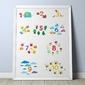 Nauka liczenia - plakat dla dzieci , wymiary - 18cm x 24cm, kolor ramki - biały
