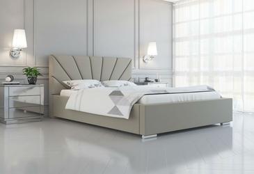 Łóżko tapicerowane do sypialni rosalia z pojemnikiem na pościel