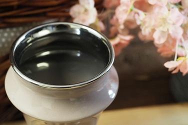 Wazon ceramiczny beżowy h - 20 cm okrągły
