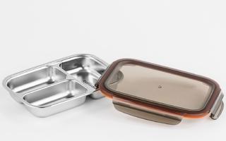Lunchbox stalowy z 3 przegródkami 0,56 litra to go cuitisan ec4181