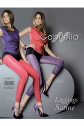 Gabriella 131 satine long microfibra grey legginsy