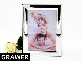 Posrebrzany album na zdjęcia urodziny ślub GRAWER