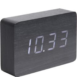 Budzik, zegar stołowy Square LED Karlsson czarny KA5653BK