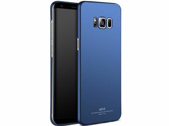 Etui MSVII Thin Case do Samsung Galaxy S8+ Plus Granatowe + Szkło - Granatowy