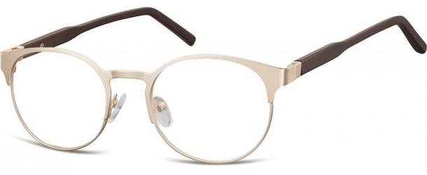 Zloto brazowe okulary oprawki okrągłe korekcja sunoptic 994i