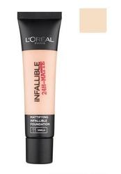 Loreal infallible 24h matte foundation kosmetyki damskie - długotrwały podkład matujący 11 vanilla 35ml