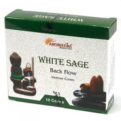 Biała szałwia - kadzidełka stożkowe typu backflow op. 10 szt