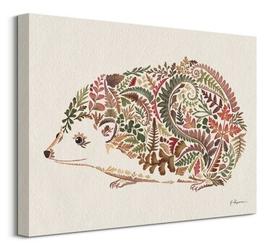 Happy hedgehog - obraz na płótnie