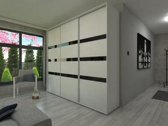 Szafa l250 x 245 przesuwna - czarne szkło