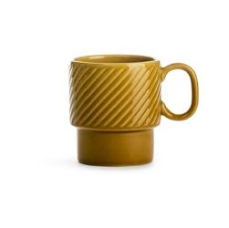 Filiżanka ceramiczna z uchem żółta Coffee Sagaform