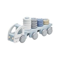 Drewniana ciężarówka z klockami kids concept - niebieska