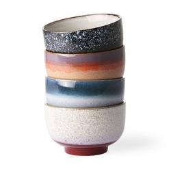 Hkliving  :: zestaw 4 misek ceramicznych 70s
