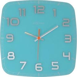 Zegar ścienny classy square turkusowy