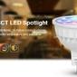 Żarówka milight - 4w mr16 rgb+cct led spotlight - fut104