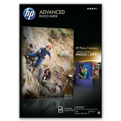 HP Advanced Glossy Photo Pa, foto papier, połysk, zaawansowany, biały, A4, 250 gm2, 50 szt., Q8698A, atrament