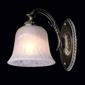 Klasyczna, antyczna lampka ścienna z białym kloszem ariadne mw-light classic 450024501