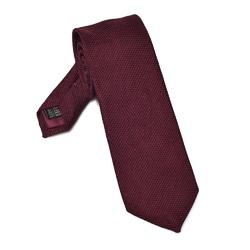 Elegancki bordowy krawat VAN THORN z grenadyny