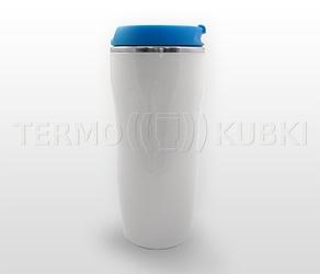 Kubek termiczny 350 ml lady biało-niebieski
