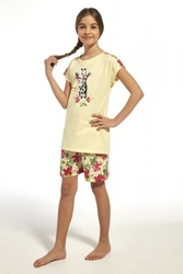 Piżama dziewczęca cornette 24665 young aloha żółty