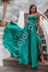 Wieczorowa sukienka na studniówkę lub wesele, bella szmaragdowa