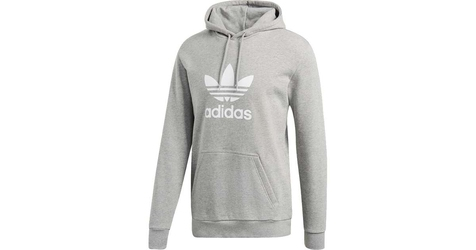 Adidas trefoil hoodie medium grey heather l szary