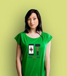 Kill'em all t-shirt damski zielony xxl