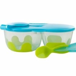 Pojemnik podwójny na żywność, zielono-niebieski, b.box - zielono-niebieski