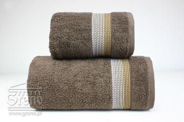 OMBRE BRĄZOWY ręcznik bawełniny FROTEX - brązowy