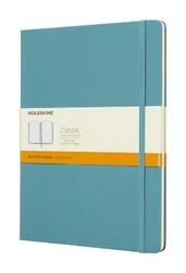 Notes Moleskine w twardej oprawie XL reef blue w linie