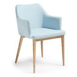 Krzesło danai z podłokietnikami jasnoniebieskie